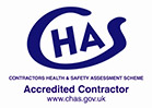 Chas - The Contractors Health and Safety Assessment Scheme - Accreditated Contractor - www.chas.gov.org